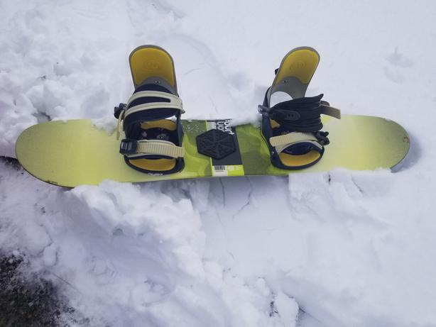 Kids Burton snowboard and boots