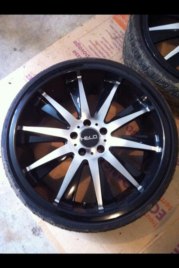Helo 20 inch wheels and tires