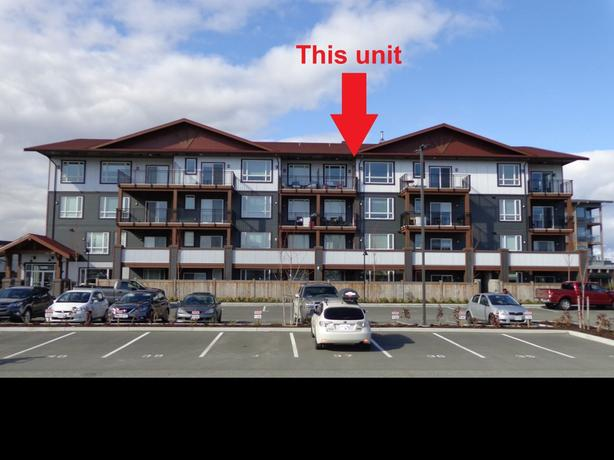 Downtown Campbell River, ocean front, 1 bdm, TOP floor, March 1st