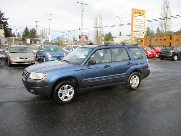 2007 SUBARU FORESTER 4 CYLINDER AUTOMATIC ALL WHEEL DRIVE