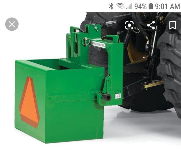 JOHN DEERE IMATCH & NEW BALLAST BOX