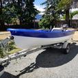"12'  "" Scotty Made ""  fiberglass boat"
