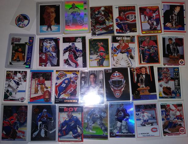 PATRICK ROY LOT OF 51 HOCKEY CARDS - INVESTMENT