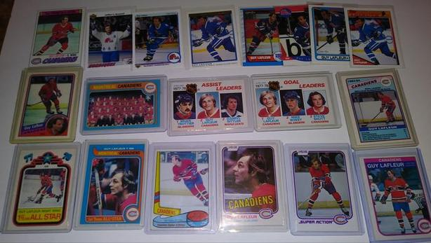 GUY LAFLEUR LOT OF 19 HOCKEY CARDS - INVESTMENT