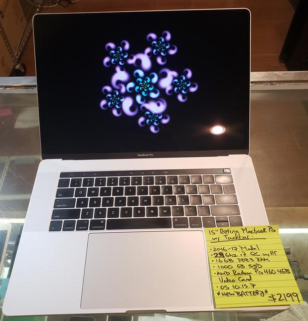 "15"" MacBook Pro Retina with Touchbar & New Battery - 90-day warranty!"