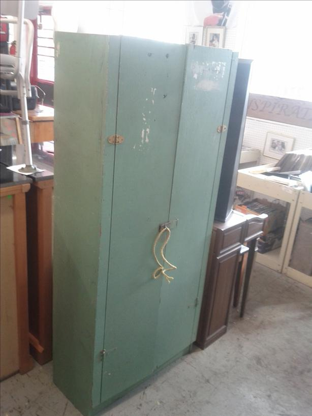 Green Wood Cabinet