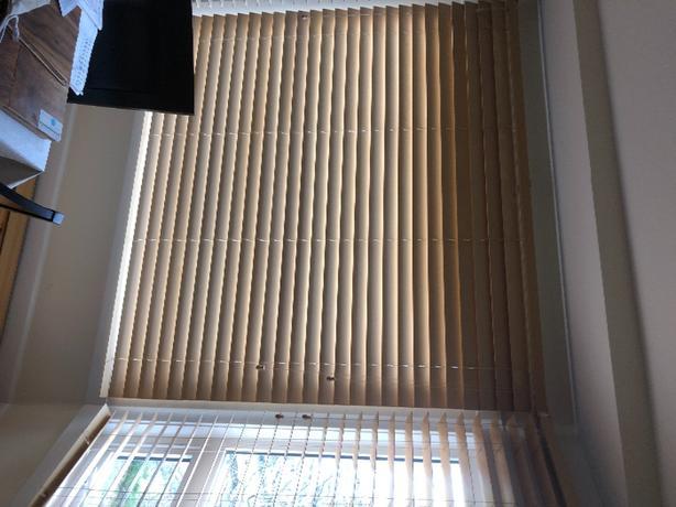 assorted wood slat blinds