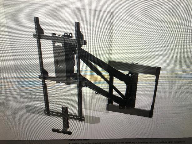 """""""pull down"""" wall mount tv stand (new)"""