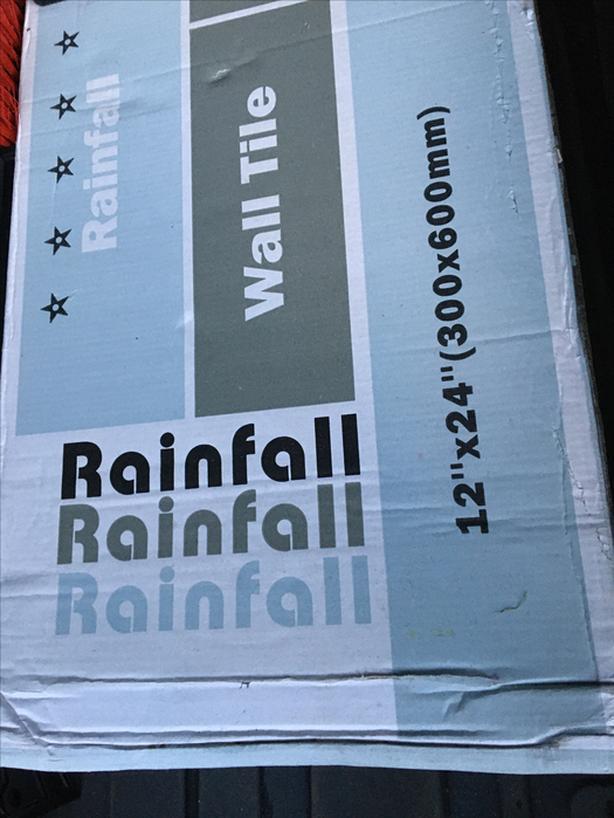 Rainfall wall tiles