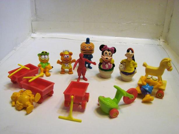 MACDONALDS. GARFIELD, AND DISNEY FIGURINES SELLING FOR $1.00 EACH OR 6 FOR $5.00