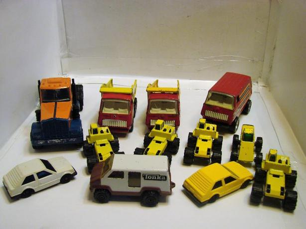 ASSORTED TONKA CARS AND UTILITY VEHICLES $2.00 EACH OR THREE FOR $5.00