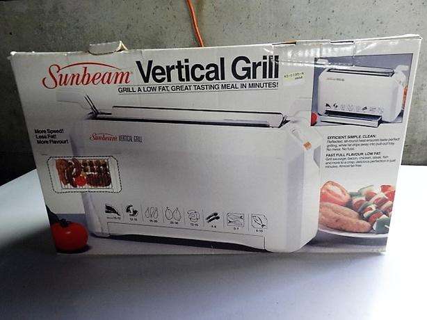 SUNBEAM VERTICAL GRILL NEVER USED