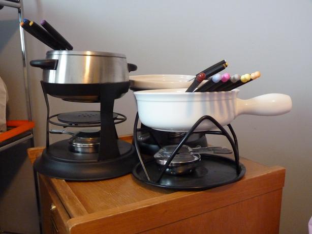 Set of 3 fondue pot