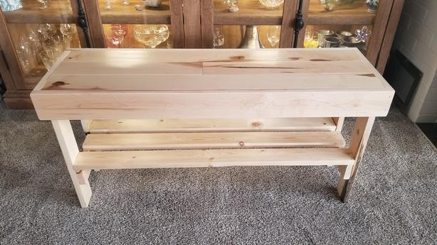 Maple bench with shoe shelf