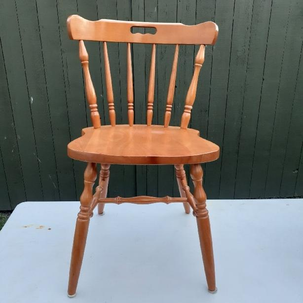 Rock maple chair in pristine condition as pictured.