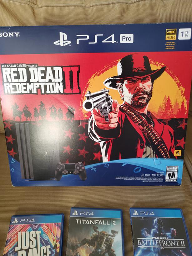 PS4 pro with 5 games