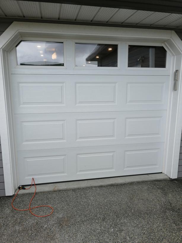 Garage door and opener