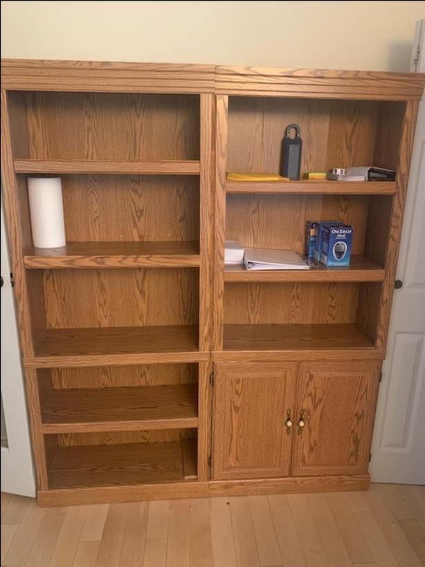Bookcases, Desks, Filing Cabinets