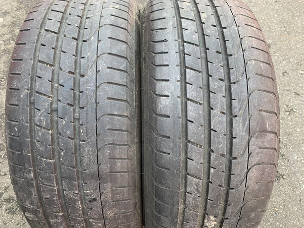 Pair of 225/35/19 Pirelli Pzero run flat with 65/70% tread