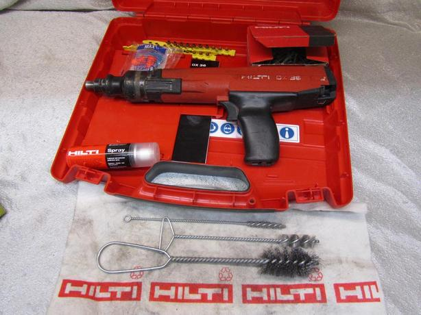 #154742-1 REDUCED Hilti DX36 powder actuated nailgun with power