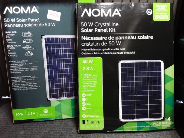 2 -  50 Watt 12v  Noma solar panels .