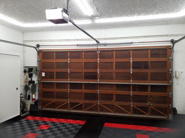 16' x 8' Cedar/Redwood garage door and opener