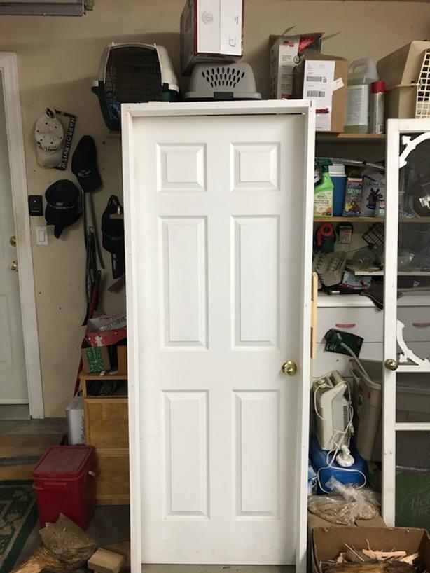 30 in. x80 in. Left hand 6 panel textured Prehung Interior  door