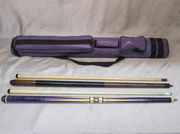 #175132-2 Flirt by Players pool cue and breaker cue and case