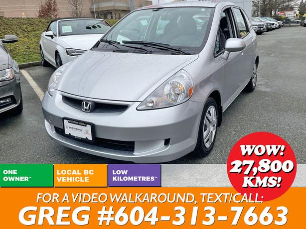 2007 HONDA FIT LX AUTO HATCHBACK 1-OWNER NO ACCIDENTS