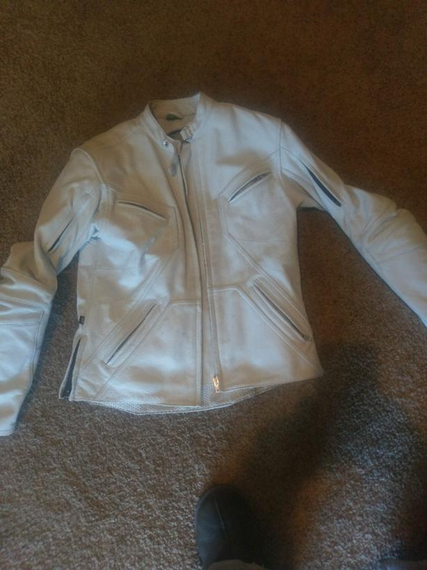 Joe rocket white womans jacket