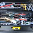 SHOP PRO 26 INCH STAINLESS STEEL TOOL BOX AND TOOLS