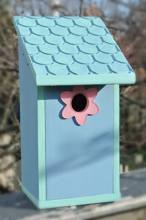 The Blue Shingle Shimmy Birdhouse - Handmade in Victoria, BC - Buy Local