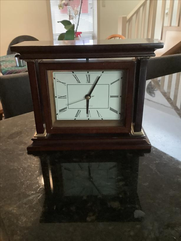 Bombay Rotating Mantel Clock with picture Frame