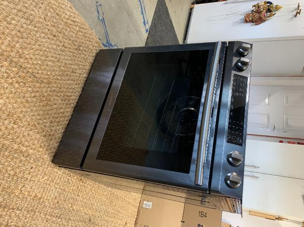 electric range and microwave