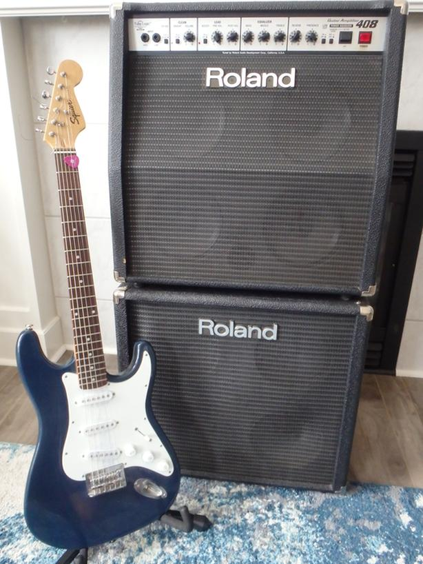 ROLAND COMBO AMP AND EXT CABINET