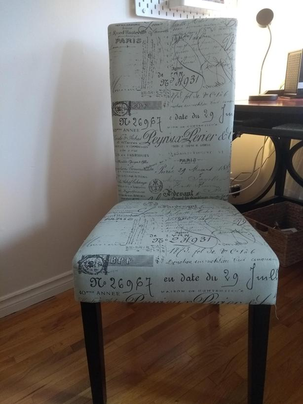 High backed upholstered chair from the Brick