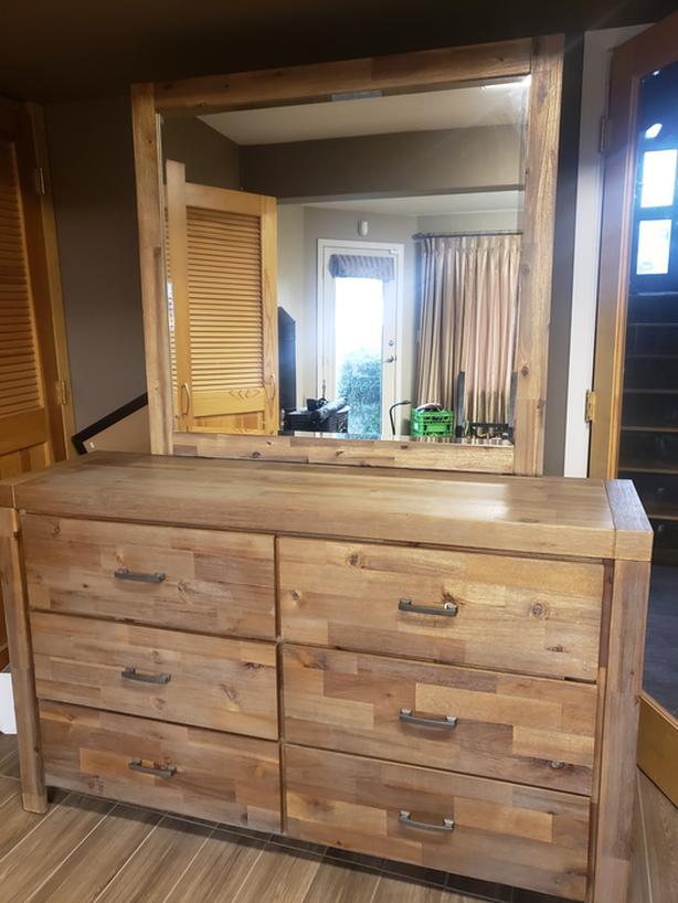Big solid wood dresser