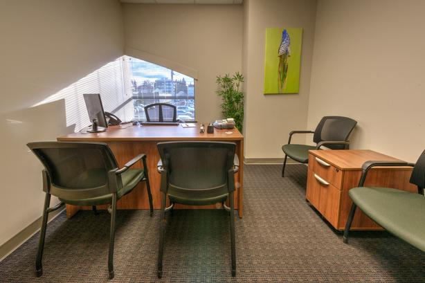 Fully Furnished or bring your own office for rent