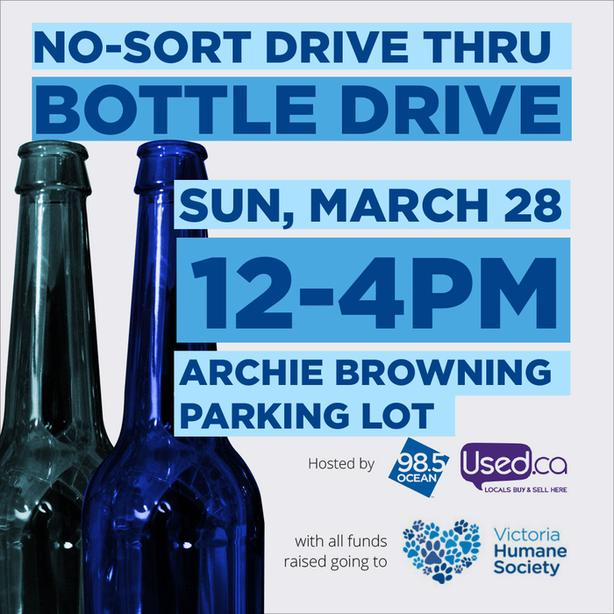 Used.ca and Ocean 98.5 Drive Thru Bottle Drive for Victoria Humane Society