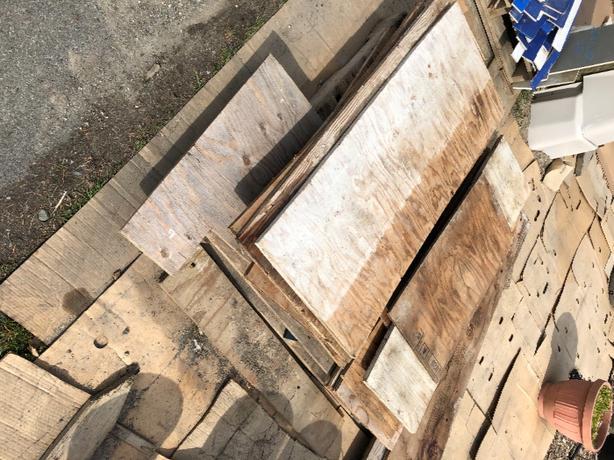 FREE:  Plywood Off-cuts — 2 skids worth