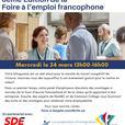 Foire à l'emploi francophone