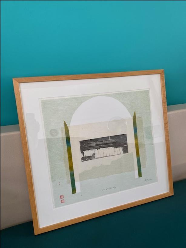 Pat Cook original framed handmade paper art