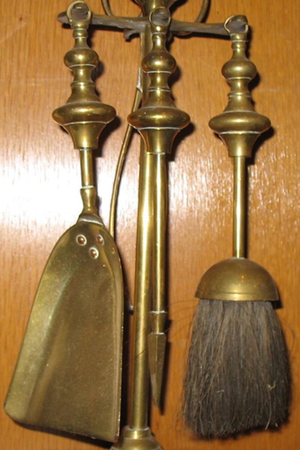 Antique Brass Fireset