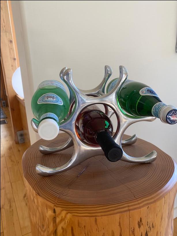 Funky organic wine holder
