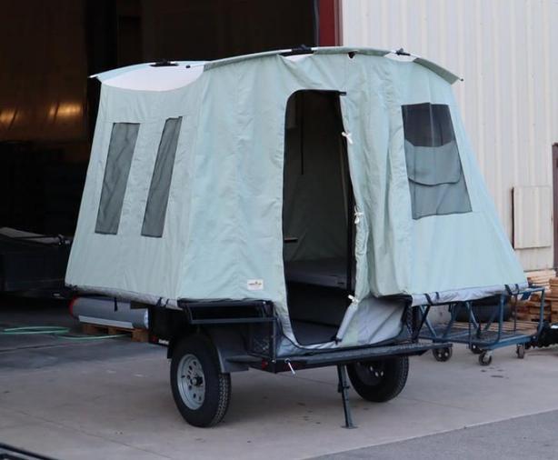 2021 JUMPING JACK TRAILERS Explorer 4 x 6 Blackout w/6' Tent