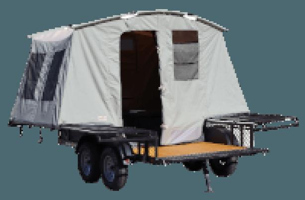 2021 JUMPING JACK TRAILERS Mid 6 x 12 BLACKOUT w/8' Tent