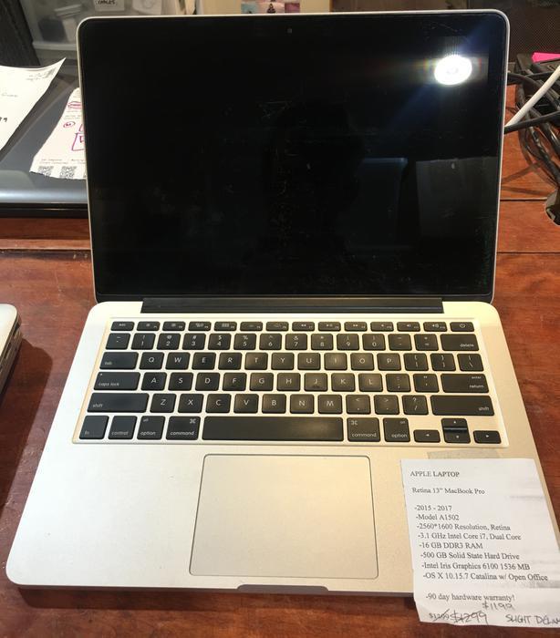 """Retina 13"""" MacBook Pro with 90 day warranty"""