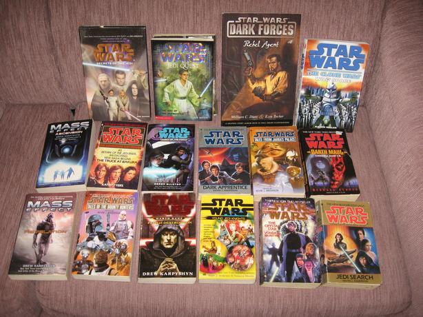 Lot of Star Wars Mass Effect Science Fiction Paperback Books