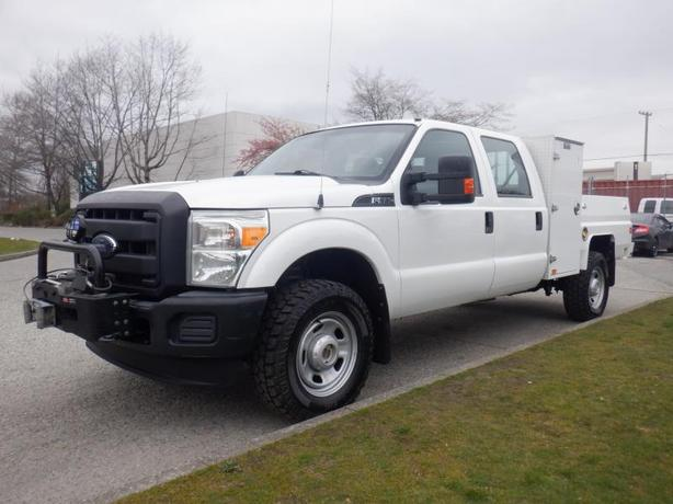 2013 Ford F-350 Crew Cab Service Truck  4WD With Winch