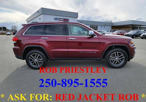 2017 JEEP GRAND CHEROKEE LIMITED 4X4 * ask for RED JACKET ROB *